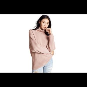 Free people softly structured tunic sweater mauve